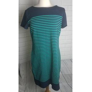 Laundry by Shelli Segal navy striped dress 12